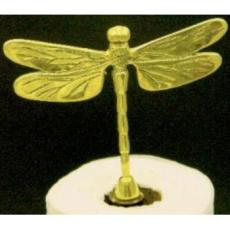 Dragonfly Brass Paper Towel Holder