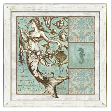 Driftwood Mermaid Framed Art