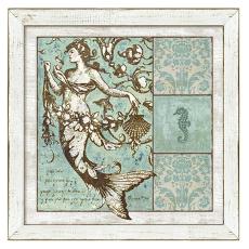 Driftwood Mermaid Framed Art