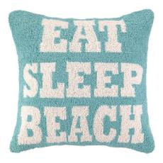 Eat Sleep Beach Hook Pillow