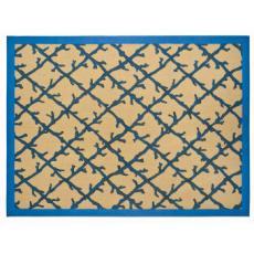 Blue Coral Lattice Jute Area Rug
