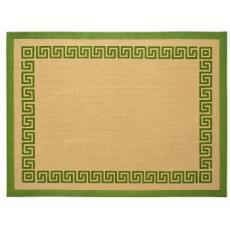 Green Greek Key Jute Area Rug
