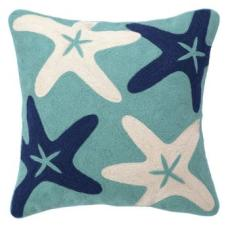 Starfish Crewel Pillow