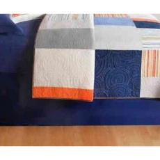Endless Summer Navy Blue Dust Ruffle Bed Skirt