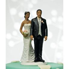 The Love Pinch Wedding Couple Cake Topper