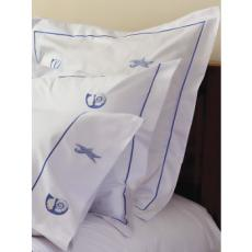 Custom Embroidered Coastal Euro Pillow Cover (Design Selection II)
