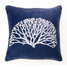 Coral Fan Velvet Pillow