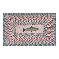 Fish Patch Braided Rug