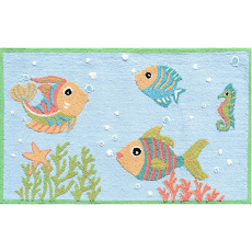 Fish Party Area Rug