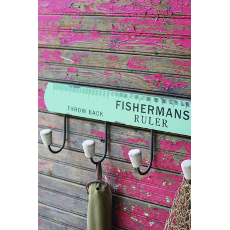 Wooden Fisherman's Ruler Coat Rack