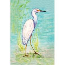 Snowy Egret Designer Flag