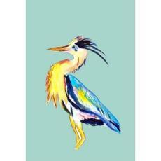 Vertical Blue Heron Designer Flag