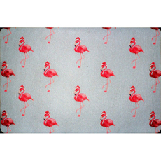 Flamingo Santa Door Mat