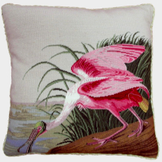 Flamingo Ii Needlepoint Pillow