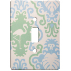 Flamingo Decor Ceramic Single Switch Wall Plate
