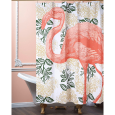 Flamingo Bloomsbury Shower Curtain Coral