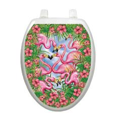 Flamingo Toilet Seat Decoration