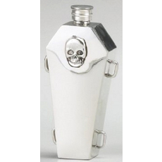 Casket Pewter Flask