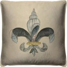 Fleur de Lis Shell Pillow