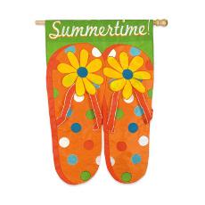 Flip Flop Summertime Garden Flag