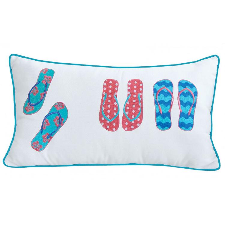 Flip Flops Lumbar Pillow - Indoor  Outdoor