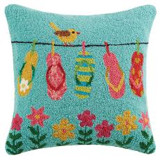 Flip Flop Hook Pillow