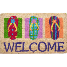 Flip Flops Welcome Coco Doormat