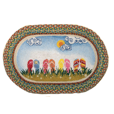 Flip Flop Oval Patch Rug