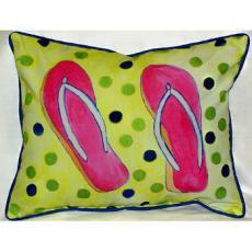 Flip Flops Indoor Outdoor Pillow