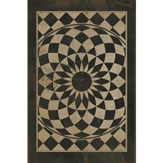 Black and White Pattern Vinyl Floor Cloth