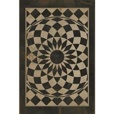 Black And White Pattern Vinyl Floor Cloth