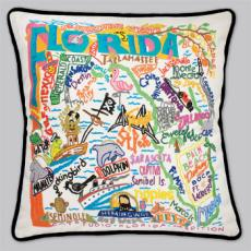 Florida State Pillow-Black Piping
