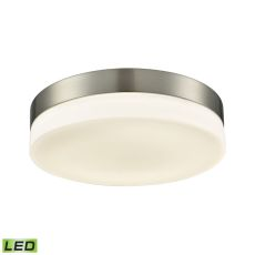 Holmby 1 Light Round Flushmount In Satin Nickel With Opal Glass - Large