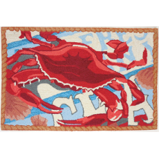 Fresh Catch Crab Accent Rug