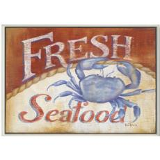 Fresh Seafood Wall Plaque