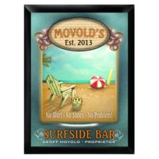 "Personalized ""Surfside"" Bar Sign"