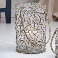 Willow Wesve Round Metal Lantern