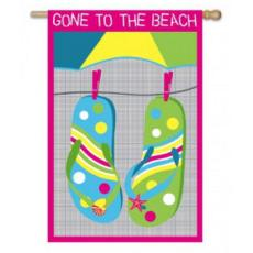 Gone To The Beach Garden Flag