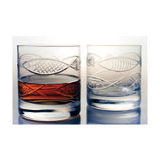 Go Fish  On The Rocks Glasses  Set Of 4