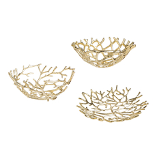 Gold Twig Bowl, Set of 3