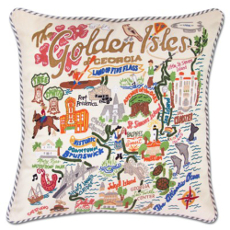 Golden Isles Hand Embroidered Pillow