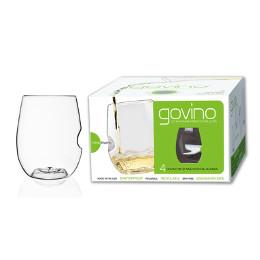 GoVino Cocktail Stemless Glasses Dishwasher Safe (set of 4)