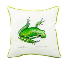 Green Treefrog Large Indoor/Outdoor Pillow 18X18