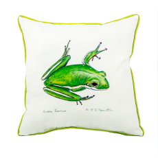 Green Treefrog Extra Large Zippered Pillow 22X22