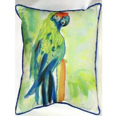 Green Parrot Indoor Outdoor Pillow