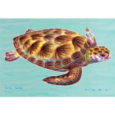 Green Sea Turtle Door Mat