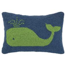 Green Whale Hook Pillow