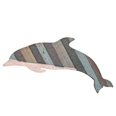 Flipper Wooden Dolphin Plaque Grey
