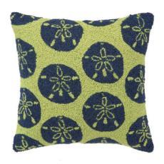 Green Sand Dollars Hook Pillow