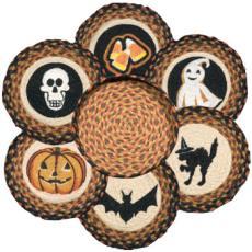 Halloween Trivet Set in Basket